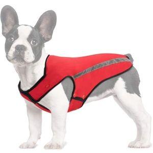 🐶2/$25 Winter dog jacket adjustable Fleece red Size M